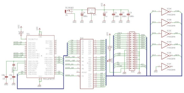 PIC microcontroller ATA library schematic