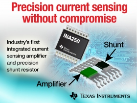 News about Current Sense Amp Integrates Precision Shunt Resistor In Single Package