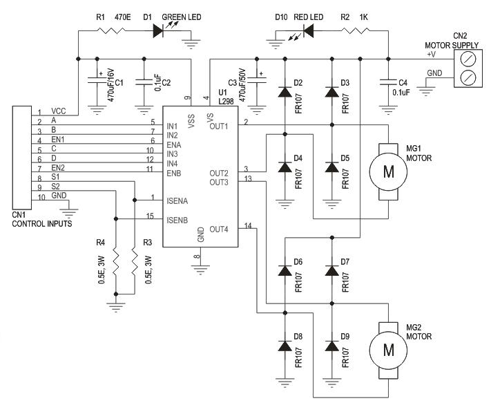 dual motor l298 h