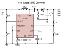 LT8331 – Low IQ Boost/SEPIC/ Flyback/Inverting Converter with 0.5A, 140V Switch