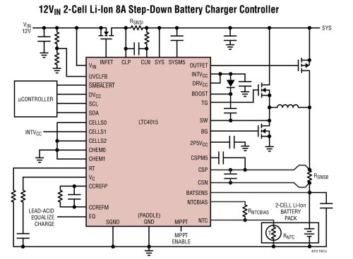 LTC4015 - Multichemistry Buck Battery Charger Controller with Digital Telemetry System