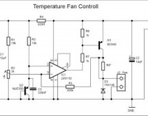 Simple and small temperature fan controll