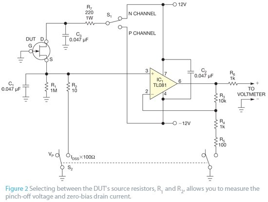 Simple circuit lets you characterize JFETs