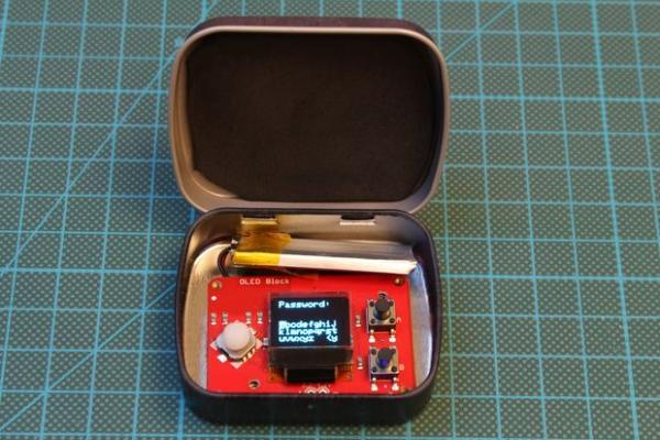 The PinTin Nano - Your Edison-Based Password Keeper