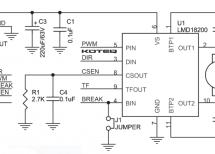LMD18200 H-Bridge Module for DC Motor