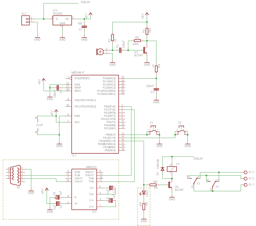 Schematic Microcontroller Clapper Switch