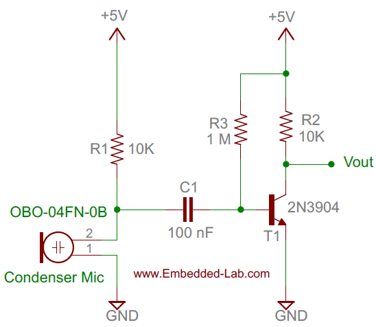 Schematic Making a simple clap switch