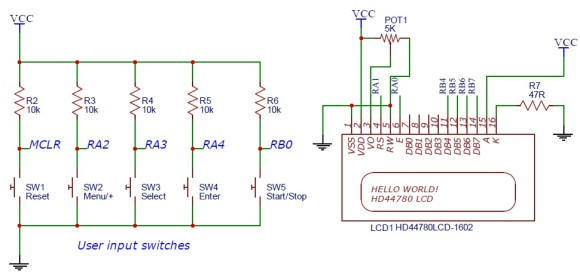 Schematic Programmable relay switch using PIC MCU (revised version)