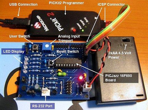 Board PIC Analog to Digital Converter C Programming