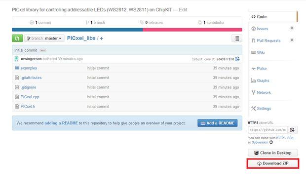 Addressable LEDs (WS2812) on ChipKIT