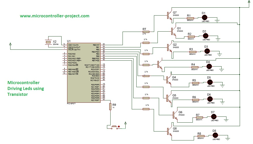 Led with Pic Microcontroller