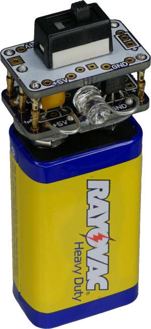 Five-volt-regulator-cap-for-nine-volt-battery