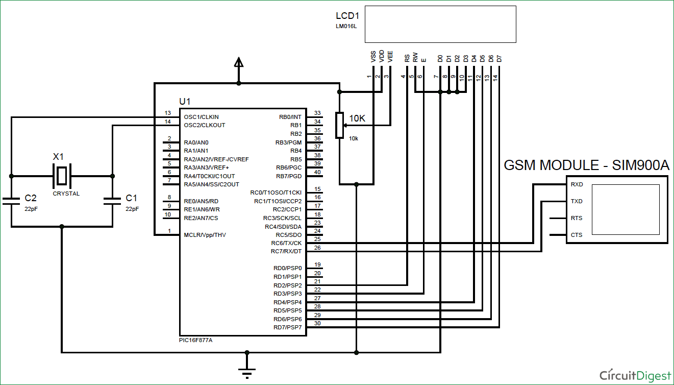 GSM-interfacing-with-PIC-microcontroller-circuit-diagram