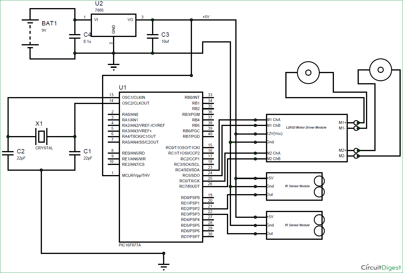 Line-Follower-Robot-using-PIC-Microcontroller-circuit-diagram