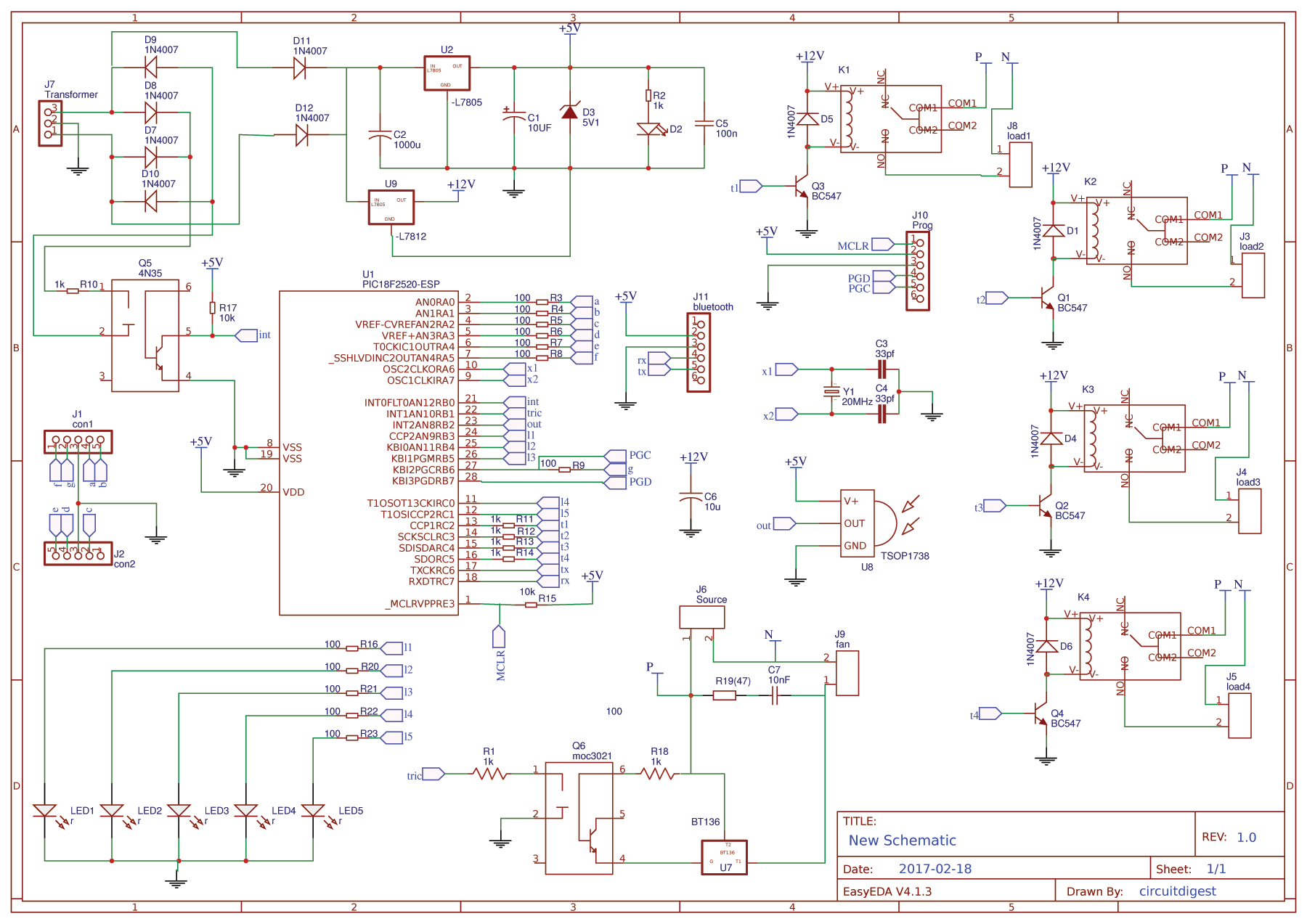 PIC-Home-Automation-Circuit