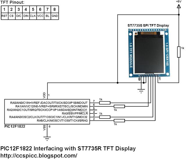 pic12f1822_st7735r_spi_tft_display_ccs