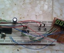 4-Digit 7-Segment display with 74HC595 shift register