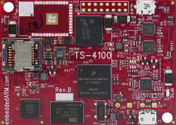 TS-4100 – A i.MX6 UL (UltraLite) Bases Hybrid SBC With FPGA And Programmable ZPU Core