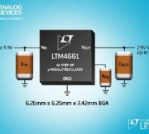 ANALOG DEVICES' TINY ΜMODULE BOOST REGULATOR FOR LOW VOLTAGE OPTICAL SYSTEMS