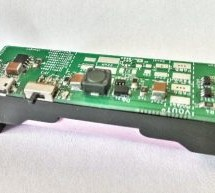 Lipo Charge/Boost/Protect board in 18650 cell holder format