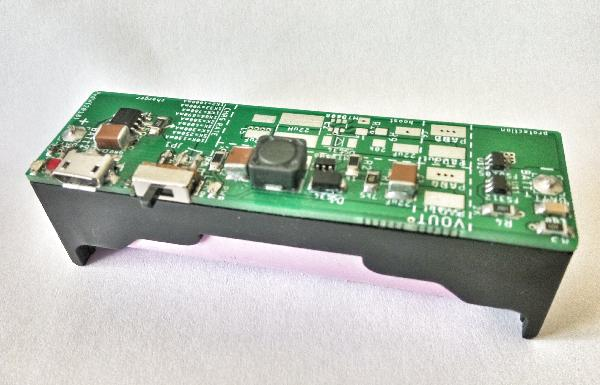 Lipo Charger Boost Protect board in 18650 cell holder format
