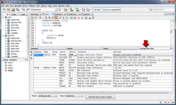 mplab x ide screenshot 3