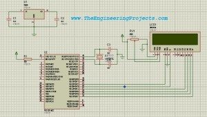 Design exactly the same circuit as shown in the below figure for interfacing of LCD with PIC Microcontroller