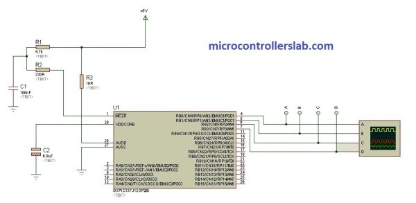 DsPIC33F microcontroller based pure sine wave inverter schematics