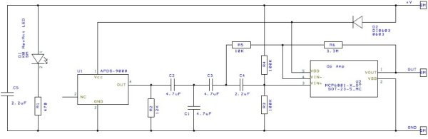Heart beat pulse sensor interfacing with pic microcontroller schematics
