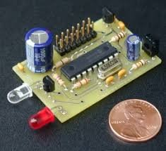 IR Remote control transmitter and receiver using PIC12F1822 microcontroller