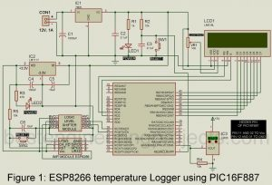 IOT Based Temperature data logger using esp8266 and pic microcontroller