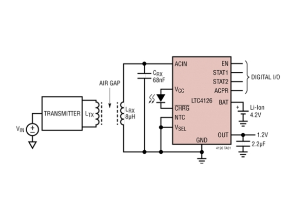 ΕFFICIENT WIRELESS LI-ION CHARGER WITH REGULATOR OPTIMIZED FOR LOW POWER WEARABLES