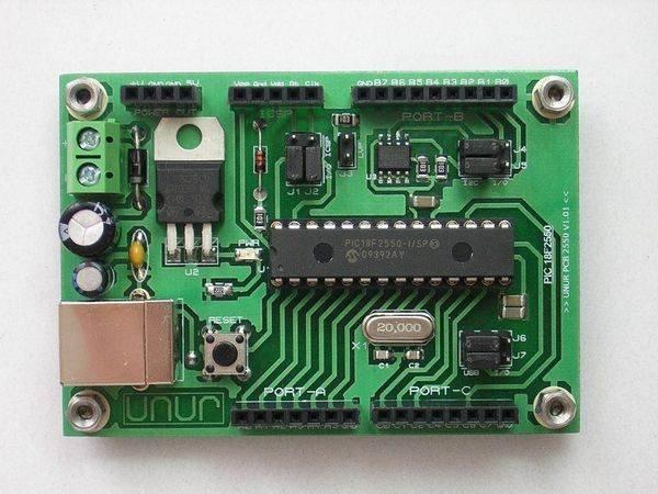 18f2550-ISP-microdenetleyici-PCB