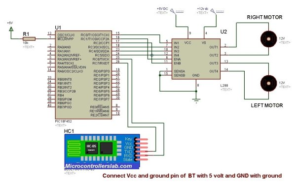 Bluetooth-controlled-robot-using-pic-microcontroller