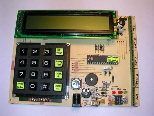 PIC16F873-demo-board
