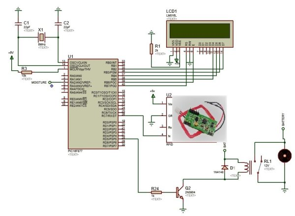 RFID-based-Electronic-Lock-using-pic-microcontroller