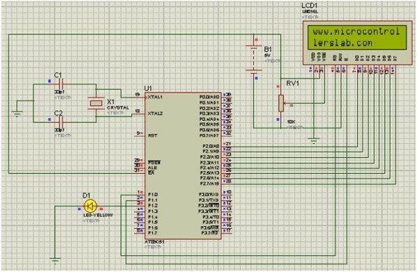 lcd-interfacing-with-8051-microcontroller-simulation