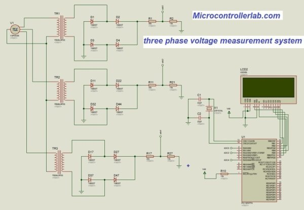 three-phase-voltge-measurement-using-pic-microcontroller