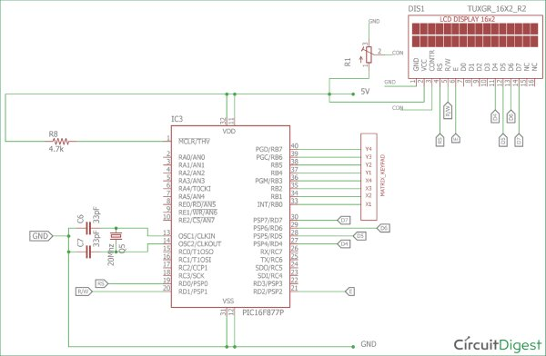 4x4-Matrix-Keypad-Interfacing-Circuit-diagram-using-PIC-Microcontroller