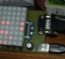 8X8 MATRIX LED SCROLLING TEXT CIRCUIT RS232 SENDING TEXT
