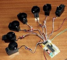 PIC16F876 CONTROL OF 8 SERVOS MOTOR 5 ANALOG CHANNELS I2C BUS