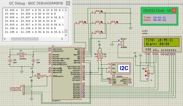Digital-Alarm-Clock-Simulation using Pic-microcontroller