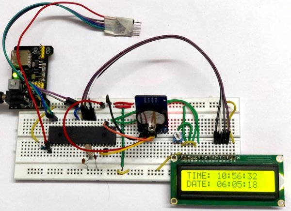 Display Time and Date on LCD using Pic-microcontorller