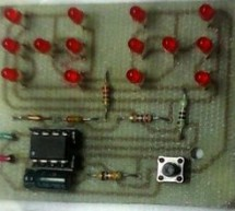 ELECTRONIC DICE CIRCUIT WITH PIC12F629