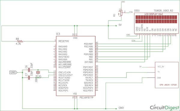 Interfacing-Circuit-Diagram-for-GPS-Module-using-PIC-Microcontroller