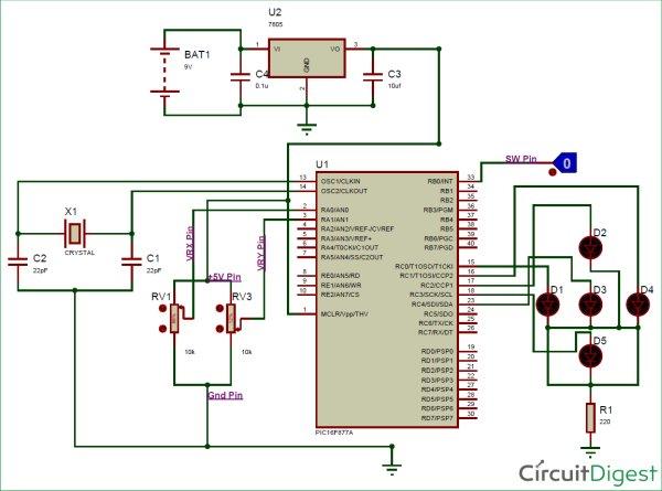 Interfacing-circuit-diagram-of-Joystick-with-PIC-Micro-controller