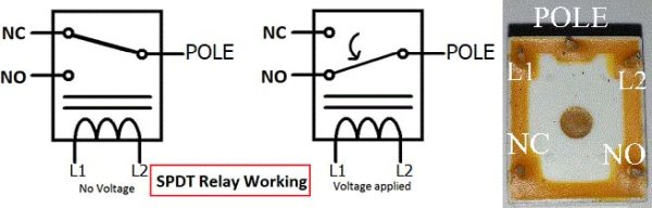 KT-603-5V-relay-pinout using Pic microcontroller