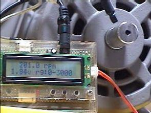 LCD TACHOMETER CIRCUIT