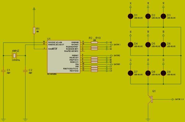 MICROCONTROLLER CIRCUIT schamatic