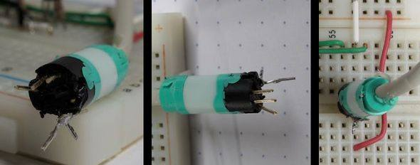PS2 MOUSE CONTROL PIC16F726 TEST CIRCUIT 3
